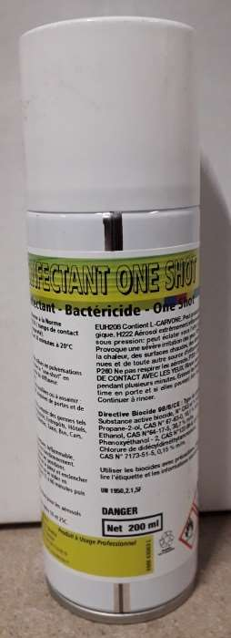 DESINFECTANT ONE SHOT 200ML/60M3 MINI 12